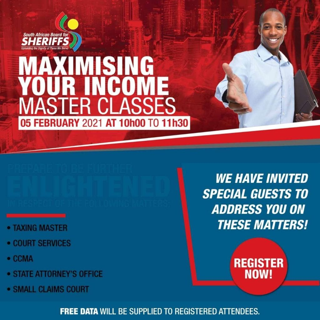 Maximise your income Masterclass